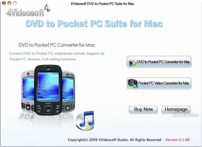 4Videosoft DVD to Pocket PC for Mac Screenshot 2