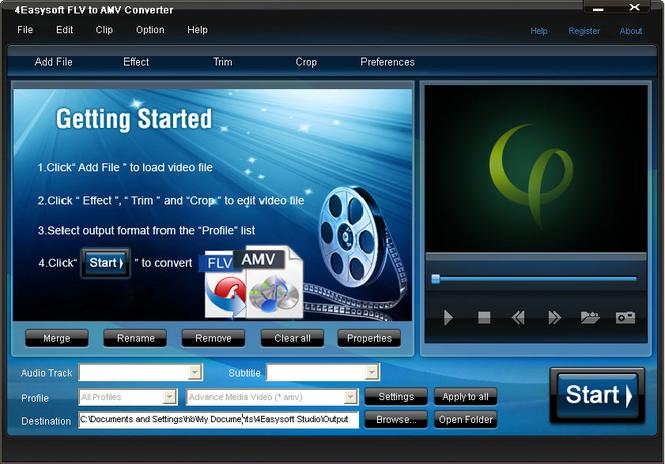 4Easysoft FLV to AMV Converter Screenshot