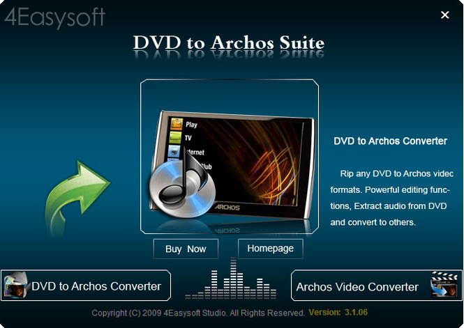 4Easysoft DVD to Archos Suite Screenshot