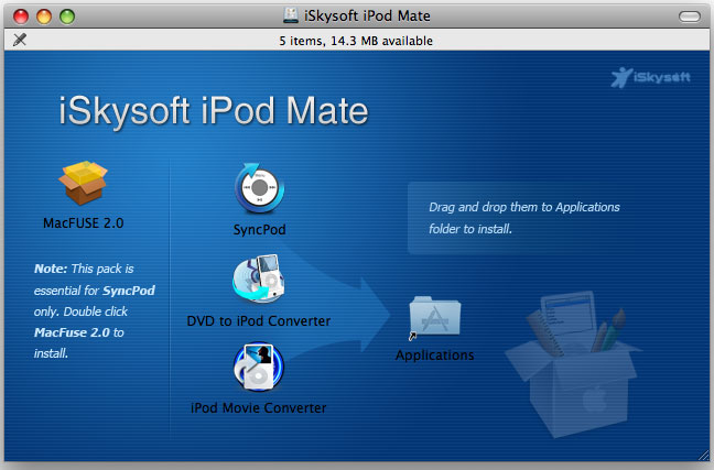 iSkysoft iPod Mate for Mac Screenshot 2