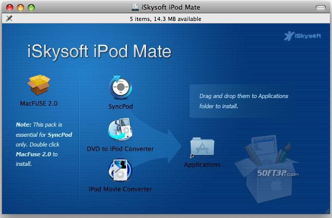 iSkysoft iPod Mate for Mac Screenshot 3