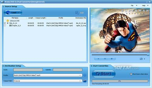 iFunia DVD to iPad Converter Screenshot 3