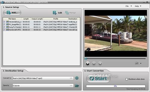 iFunia iPad Video Converter Screenshot 3