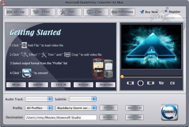 Aiseesoft Blackberry Converter for Mac Screenshot 3