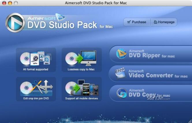 Aimersoft DVD Studio pack for Mac Screenshot 1