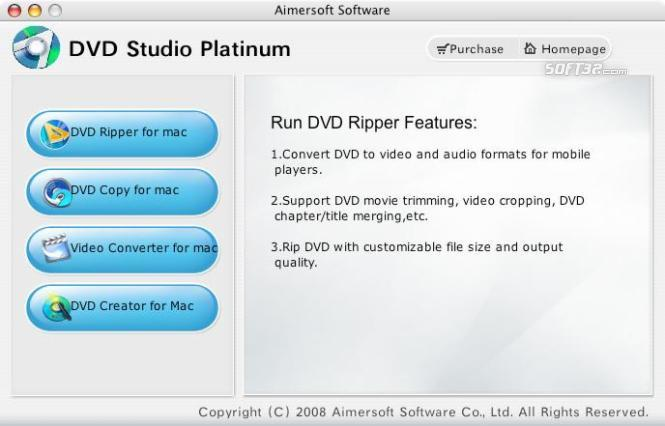 Aimersoft DVD Studio Platinum for Mac Screenshot 1