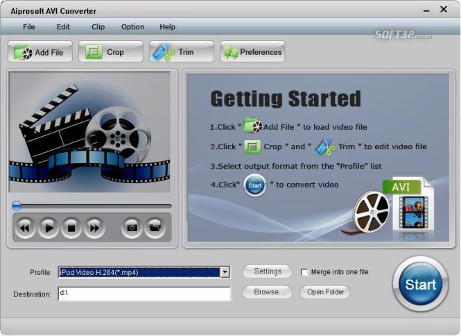 Aiprosoft AVI Converter Screenshot 3