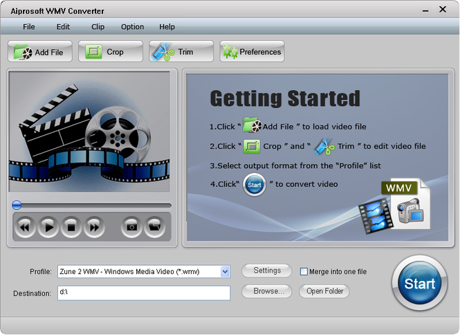 Aiprosoft WMV Converter Screenshot