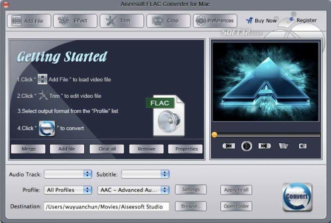 Aiseesoft FLAC Converter for Mac Screenshot 2