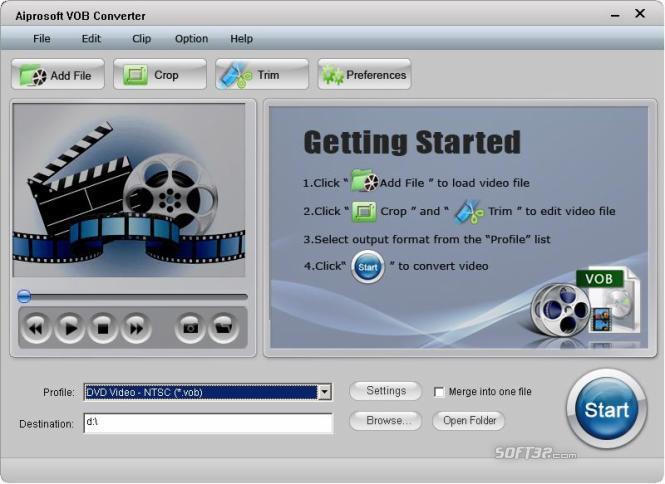 Aiprosoft VOB Converter Screenshot 2