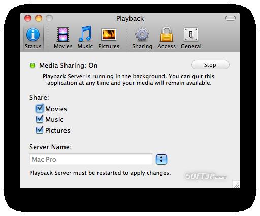 Playback Screenshot