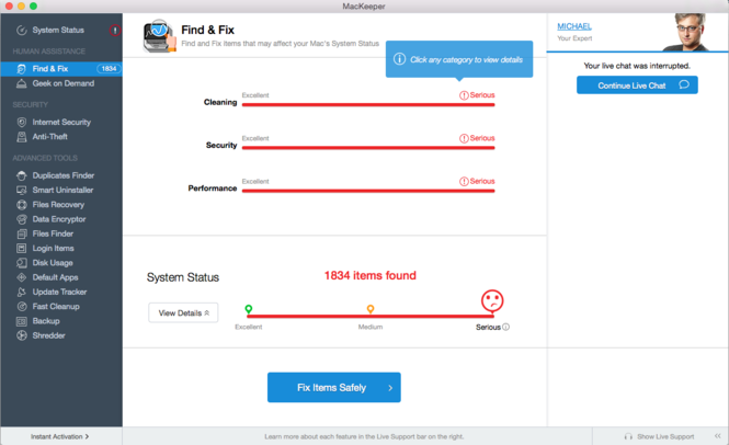 MacKeeper Screenshot 10