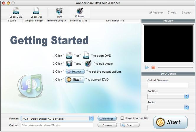 Wondershare Audio Ripper for Mac Screenshot