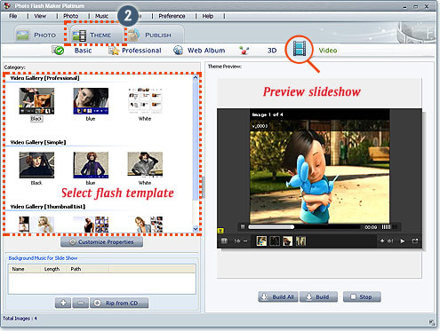Photo Flash Maker Platinum Screenshot