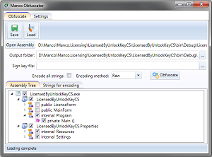 Manco .NET Obfuscator Screenshot