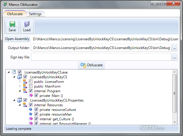 Manco .NET Obfuscator Screenshot 2