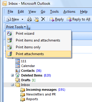 Print Tools for Outlook Screenshot