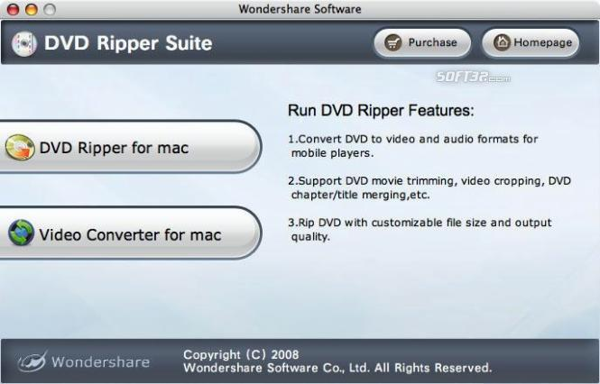 Wondershare DVD Ripper Suite for Mac Screenshot 2
