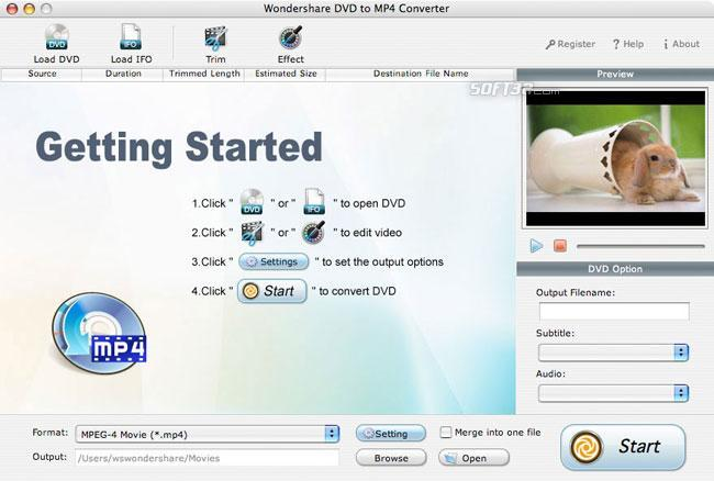 Wondershare DVD to MP4 Converter for Mac Screenshot 2