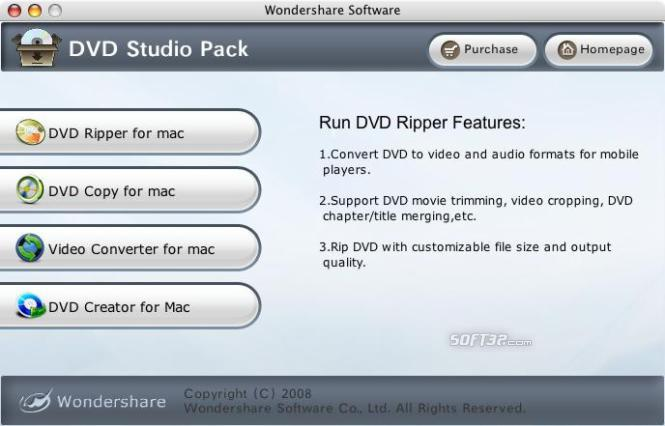 Wondershare DVD Studio Pack for Mac Screenshot 2