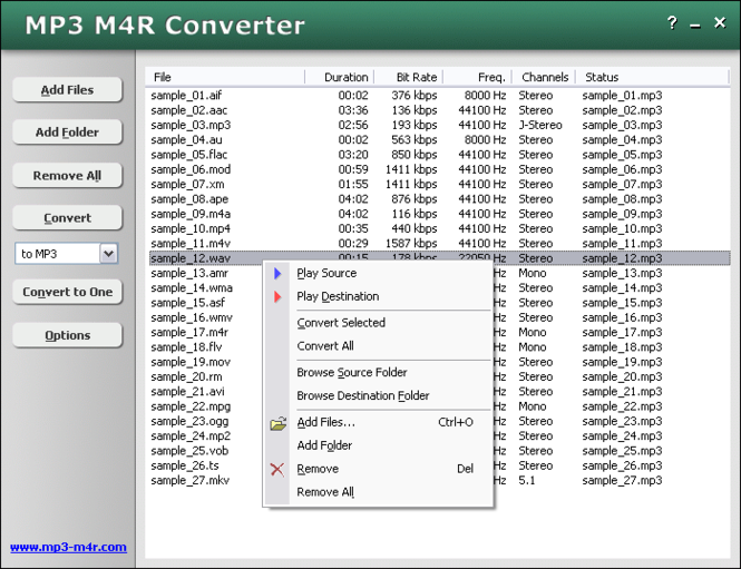 MP3 M4R Converter Screenshot