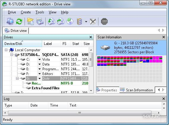 R-Studio Data Recovery Software Screenshot 2