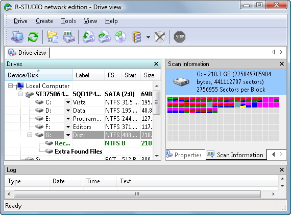 R-Studio Data Recovery Software Screenshot 1