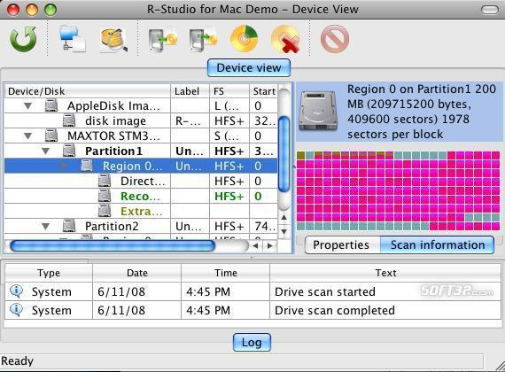 R-Studio for Mac Data Recovery Screenshot 2