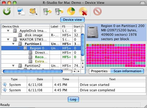 R-Studio for Mac Data Recovery Screenshot