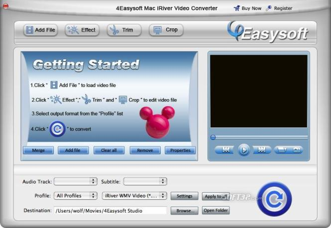 4Easysoft Mac iRiver Video Converter Screenshot 3