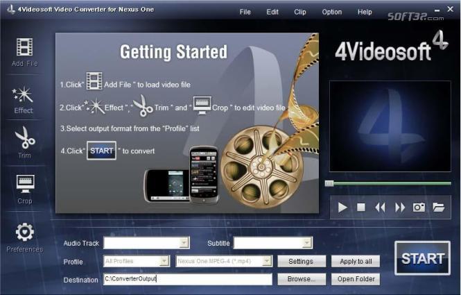 4Videosoft Video Converter for Nexus One Screenshot 3