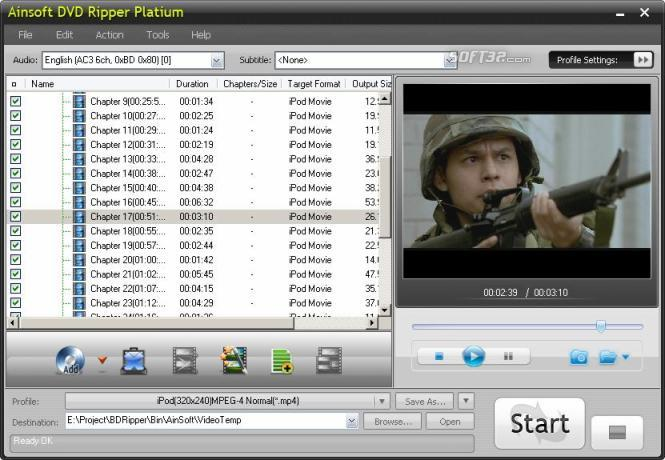 Ainsoft DVD Ripper Platinum Screenshot 1