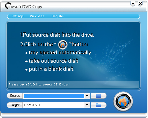 Ainsoft DVD Copy Screenshot
