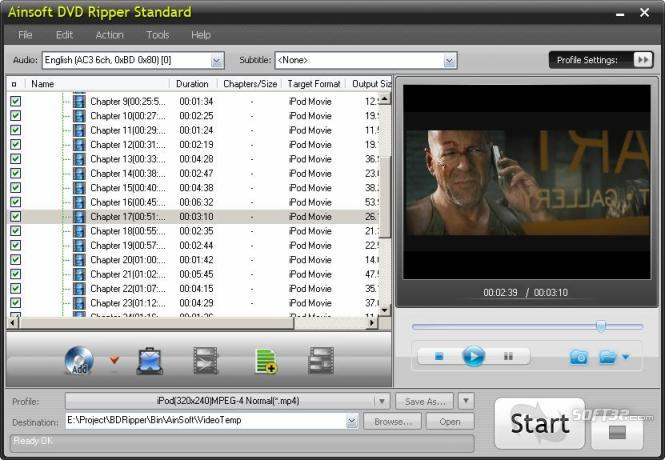 Ainsoft DVD Ripper Standard Screenshot