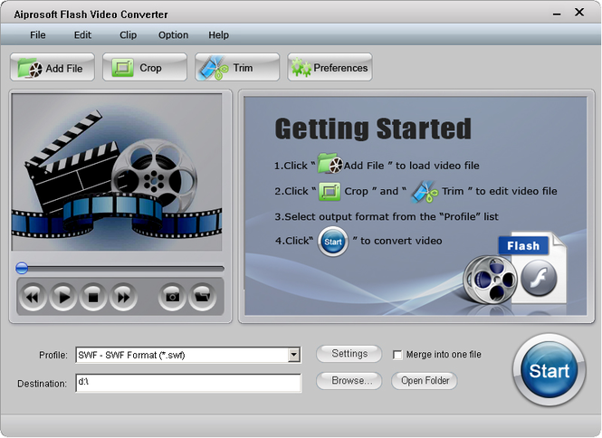 Aiprosoft Flash Video Converter Screenshot 1