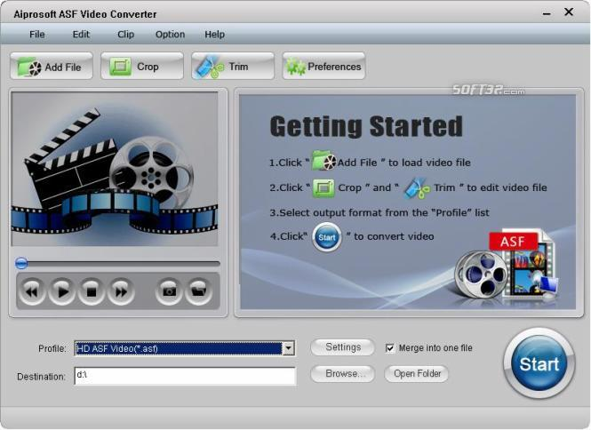 Aiprosoft ASF Video Converter Screenshot 3