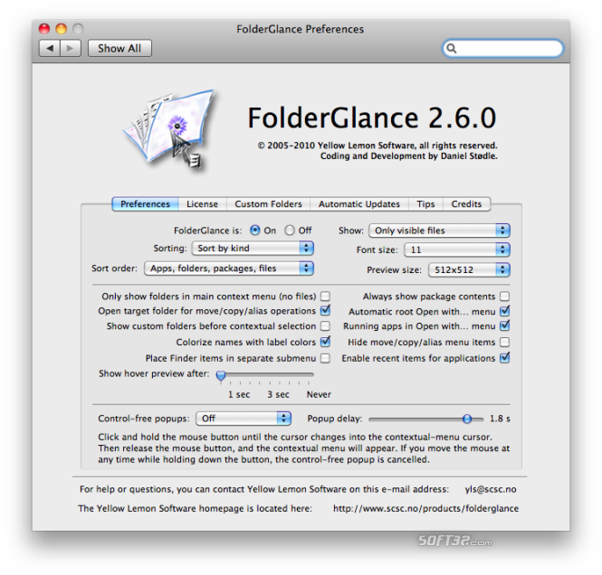 FolderGlance Screenshot