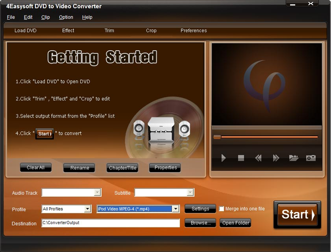 4Easysoft DVD to Video Converter Screenshot