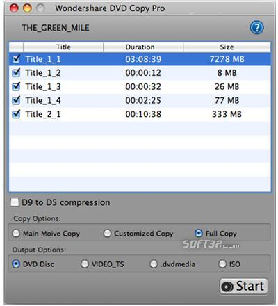 Wondershare DVD Copy Pro for Mac Screenshot 2
