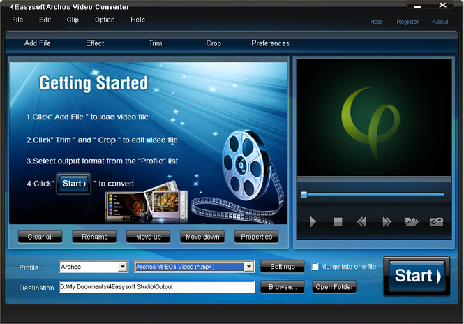 4Easysoft Archos Video Converter Screenshot 1