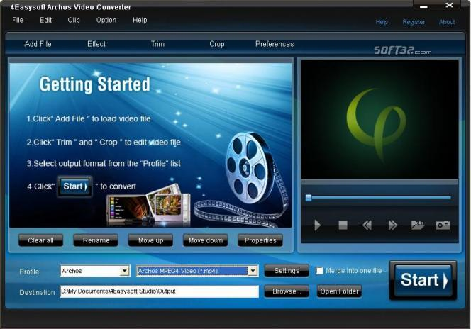 4Easysoft Archos Video Converter Screenshot 2