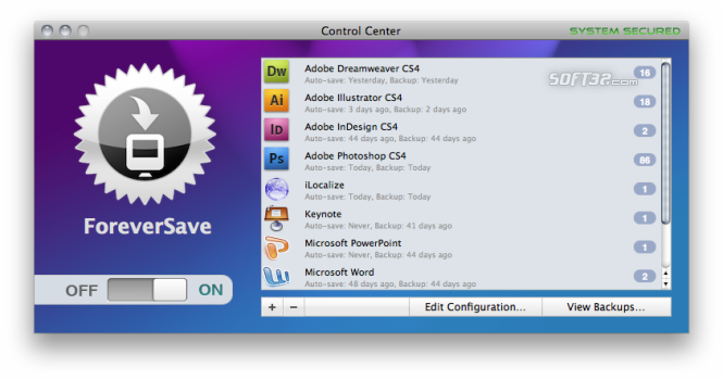 ForeverSave Screenshot