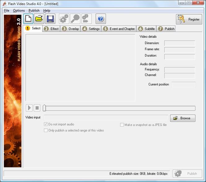 Flash Video Studio Screenshot