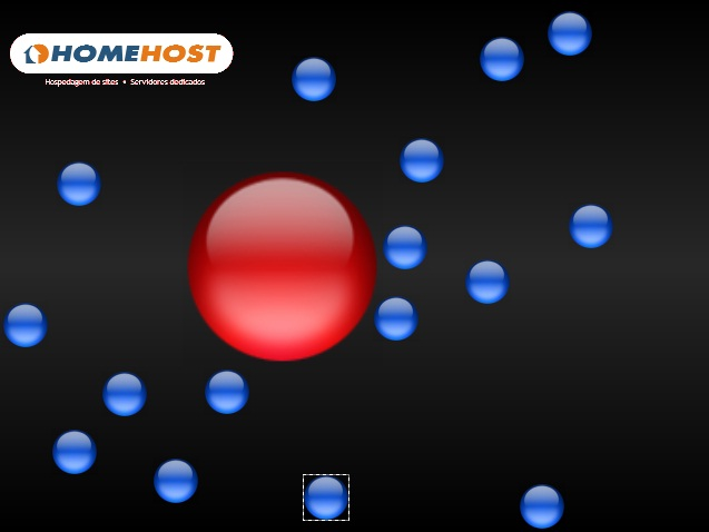 Homehost Dancing Balls Screensaver Screenshot