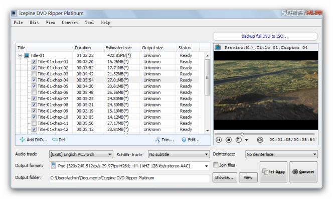 Icepine DVD Ripper Platinum Screenshot 2
