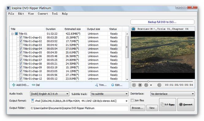 Icepine DVD Ripper Platinum Screenshot 1