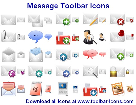 Message Toolbar Icons Screenshot 1