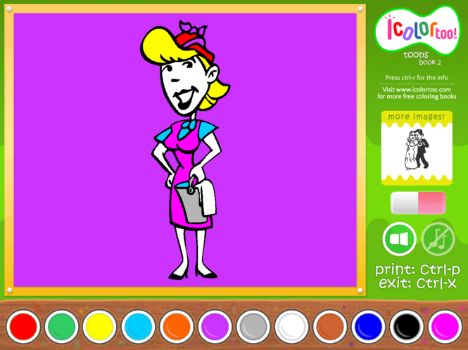 I Color Too: Toons 2 Screenshot