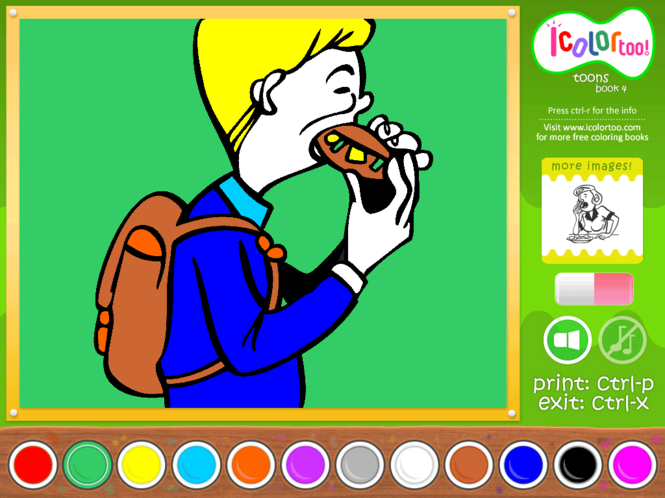 I Color Too: Toons 4 Screenshot 1