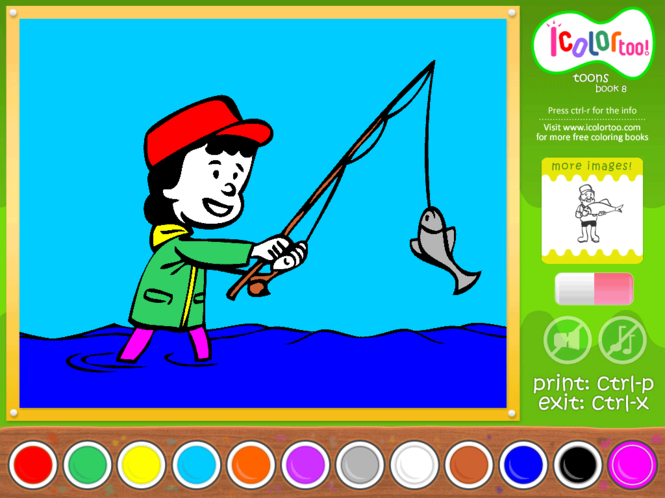 I Color Too: Toons 8 Screenshot 1